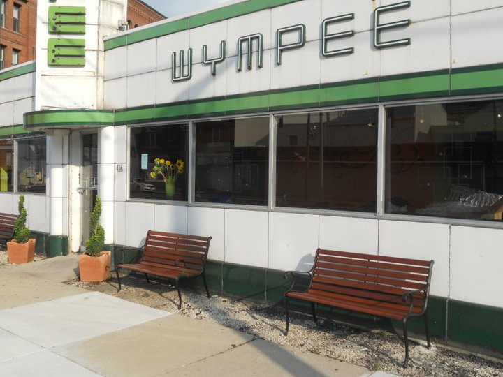 A view of the historic Wympee building, spruced up a bit
