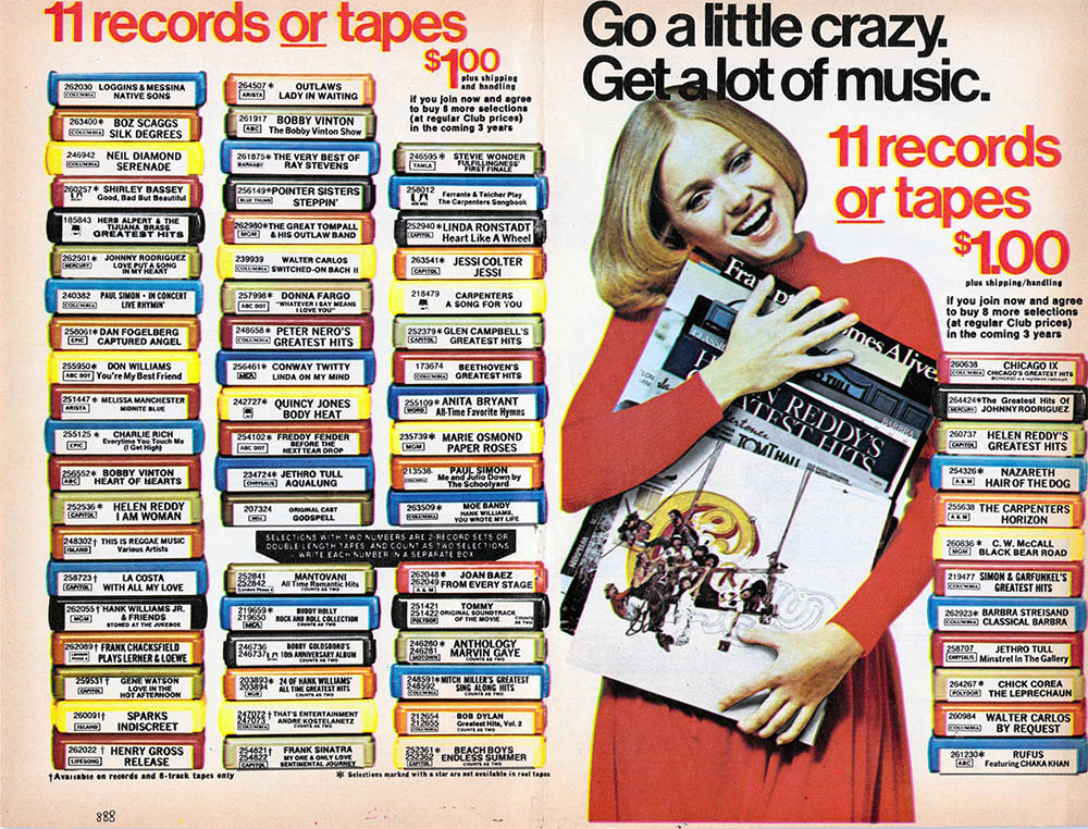 1976 Columbia House ad - page 1 (click to embiggen)