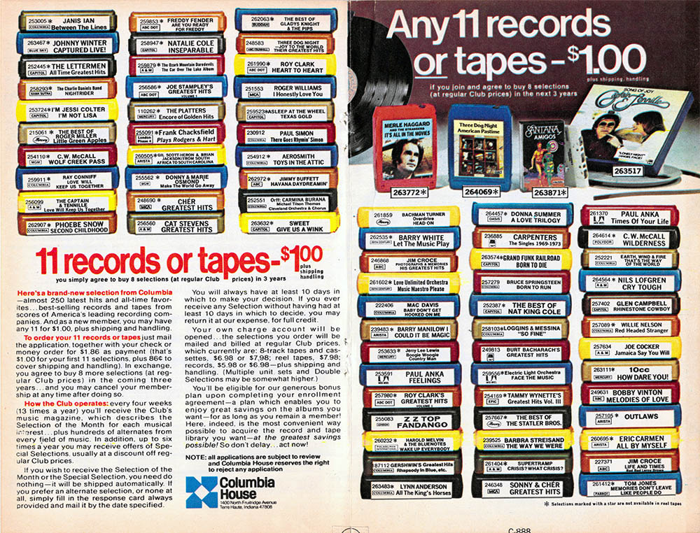 1976 Columbia House ad - page 3 (click to embiggen)